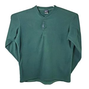 VTG Patagonia Mens L Green Button Crewneck Sweater